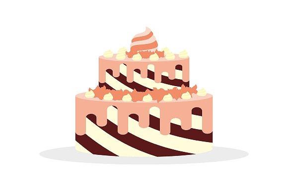 Cake With Cream For Birthdays