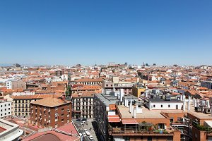 Madrid City roofs view