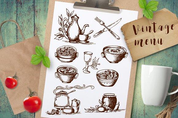 Vintage Food And Tableware