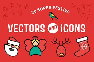 Flat Festive Icons & Vectors