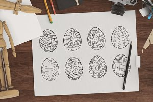 Easter eggs collection + patterns.