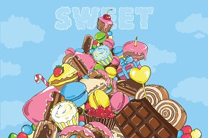 Mountain of sweets