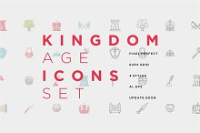 Kingdom Age Icons Set