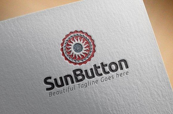 Sun Button in Logo Templates