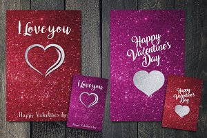 Valentines's Day greetings cards