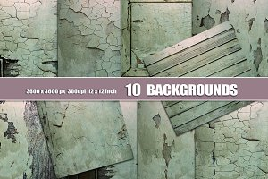 10 Distressed Wall Backgrounds teal