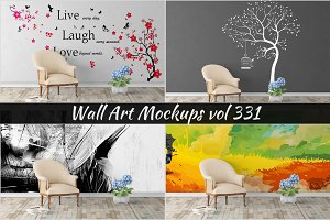 Wall Mockup - Sticker Mockup Vol 331