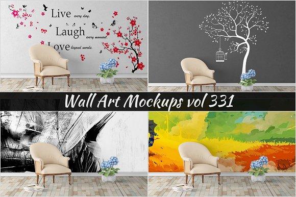 Wall Mockup Sticker Mockup Vol 331
