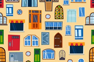 Doors seamless pattern vector