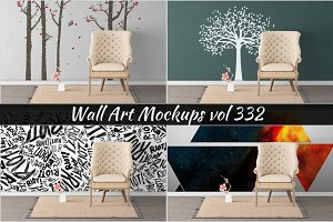 Wall Mockup - Sticker Mockup Vol 332