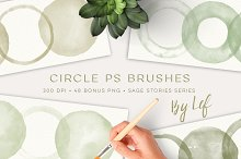 Watercolor Photoshop Brushes Round