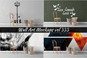 Wall Mockup - Sticker Mockup Vol 333