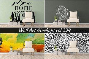 Wall Mockup - Sticker Mockup Vol 334
