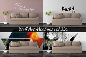 Wall Mockup - Sticker Mockup Vol 335