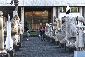 people and stones