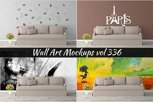 Wall Mockup - Sticker Mockup Vol 336