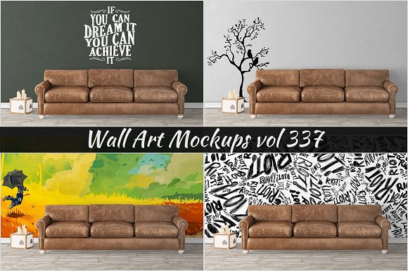 Wall Mockup Sticker Mockup Vol 337