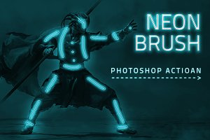 Neon Brush Photoshop Actions