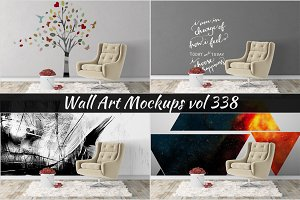 Wall Mockup - Sticker Mockup Vol 338