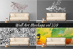 Wall Mockup - Sticker Mockup Vol 339