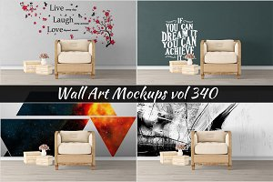 Wall Mockup - Sticker Mockup Vol 340