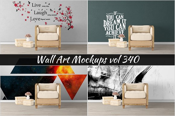 Wall Mockup Sticker Mockup Vol 340