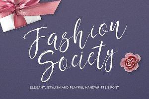 Fashion society handwritten font