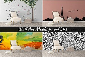 Wall Mockup - Sticker Mockup Vol 341