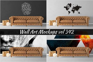 Wall Mockup - Sticker Mockup Vol 342