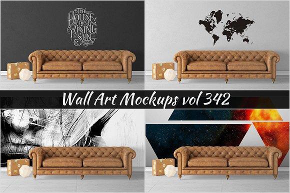 Wall Mockup Sticker Mockup Vol 342