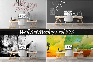 Wall Mockup - Sticker Mockup Vol 343