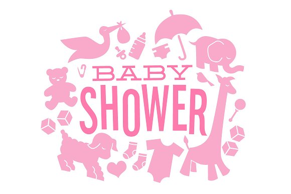 Baby Shower Icons Illustrations Creative Market