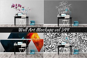 Wall Mockup - Sticker Mockup Vol 344