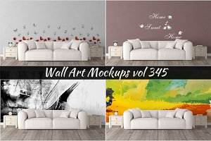 Wall Mockup - Sticker Mockup Vol 345
