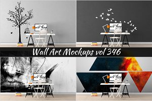 Wall Mockup - Sticker Mockup Vol 346