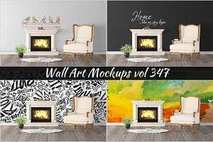 Wall Mockup - Sticker Mockup Vol 347