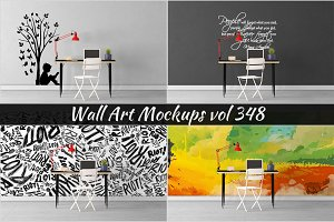 Wall Mockup - Sticker Mockup Vol 348