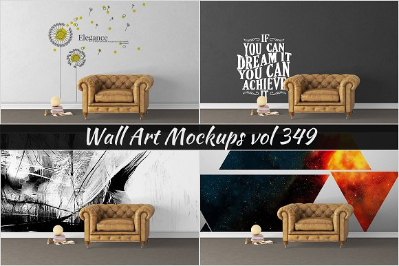 Wall Mockup Sticker Mockup Vol 349