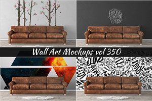Wall Mockup - Sticker Mockup Vol 350
