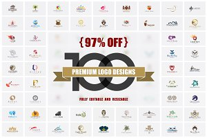 97% OFF - 100 Premium Logo Designs