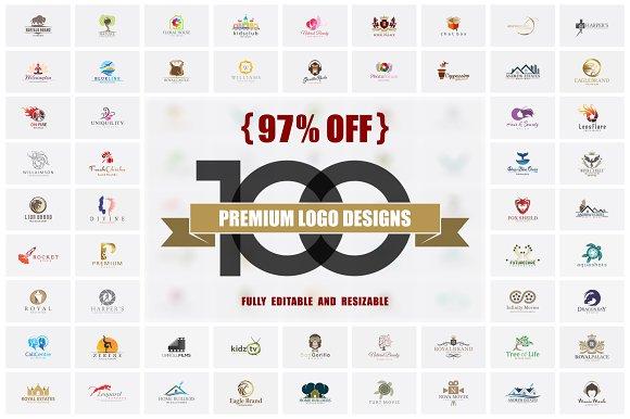 97% OFF 100 Premium Logo Designs