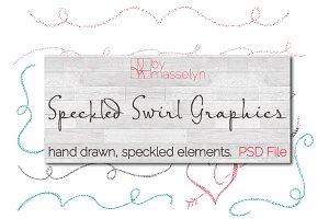 Speckled Flourish Swirl Designs PSD