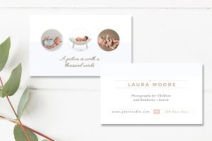Newborn Photo Business Card INDD