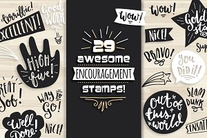 Awesome Encouragement Stamps!