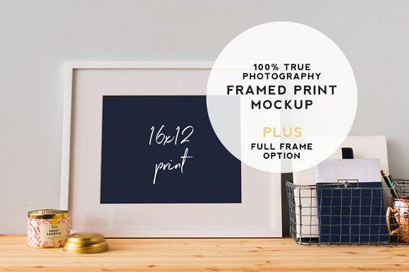 Large White Frame Mockup HZ