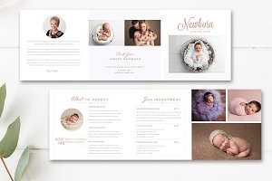 Newborn Photo Accordion Trifold INDD