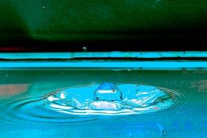 water drop and splash