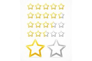 Rating Stars Set.