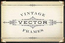 Vintage Vector Titling Frames