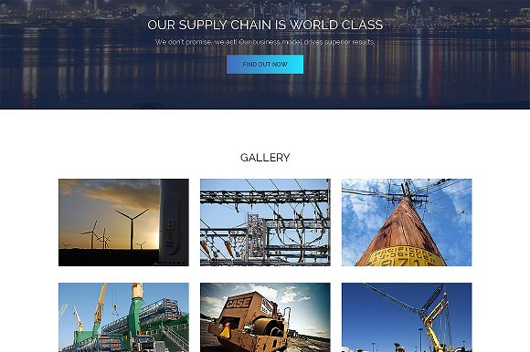 Industrial Responsive One Page Theme in HTML/CSS Themes - product preview 1